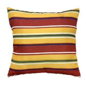 Greendale Home Fashions Outdoor Accent Pillows, Carnival Stripe, Set