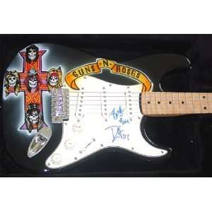 Guns n Roses Autographed Signed Airbrush Guitar Musical