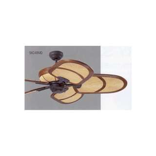 Monte Carlo 5KC48MO Kona Coast Ceiling Fan Mocha Rattan / Old Chicago