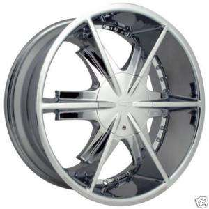 22 CHROME CENTER CAP RIM WHEEL STRADA PISTOLA