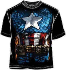 CAPTAIN AMERICA T Shirt Tee Marvel Costume/Complay (MEN