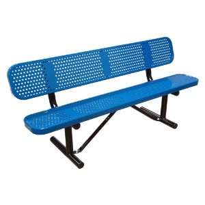 Standard Perforated Commercial Grade Bench with Back