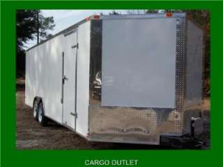 NEW 8.5X24 3500# TANDEM ROAD DOG TRADESMAN ENCLOSED CARGO TRAILER CAR