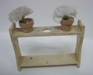 Antique doll house miniature wood plant stand