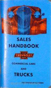 1937 Chevrolet Pickup and Truck Data Book 37 Chevy