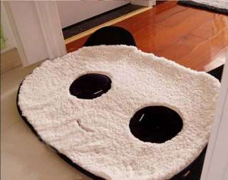 Cute Panda Coral Plush Doormat Mat Rug Pad Cute Head Carpet