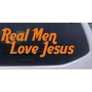 Real Men Love Jesus Text Only Christian Car Window Wall Laptop Decal